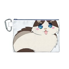 Ragdoll Cat For Life Canvas Cosmetic Bag (m) by Catifornia