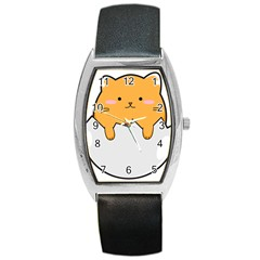 Yellow Cat Egg Barrel Style Metal Watch by Catifornia