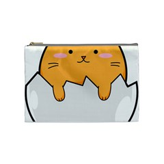 Yellow Cat Egg Cosmetic Bag (medium)  by Catifornia