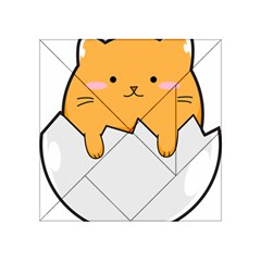 Yellow Cat Egg Acrylic Tangram Puzzle (4  X 4 ) by Catifornia
