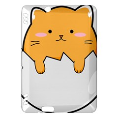 Yellow Cat Egg Kindle Fire Hdx Hardshell Case by Catifornia