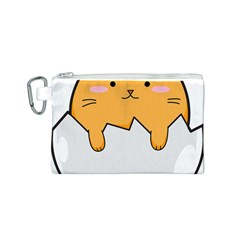 Yellow Cat Egg Canvas Cosmetic Bag (s) by Catifornia