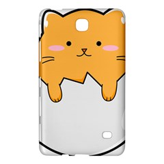 Yellow Cat Egg Samsung Galaxy Tab 4 (8 ) Hardshell Case  by Catifornia