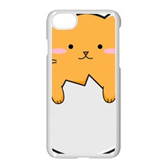 Yellow Cat Egg Apple Iphone 7 Seamless Case (white) by Catifornia