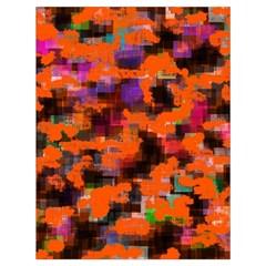 Orange Texture                  Large Drawstring Bag by LalyLauraFLM