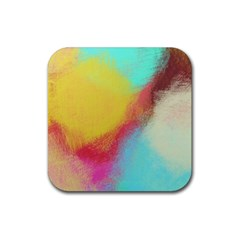 Textured Paint                   Rubber Square Coaster (4 Pack by LalyLauraFLM