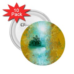 Turquoise River 2 25  Buttons (10 Pack)  by theunrulyartist