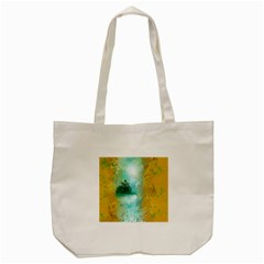 Turquoise River Tote Bag (cream) by theunrulyartist