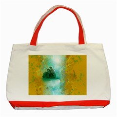 Turquoise River Classic Tote Bag (red) by theunrulyartist