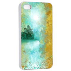 Turquoise River Apple Iphone 4/4s Seamless Case (white) by theunrulyartist