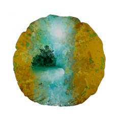 Turquoise River Standard 15  Premium Round Cushions by theunrulyartist