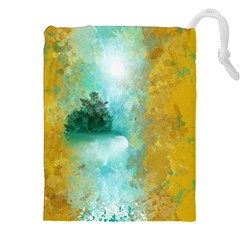Turquoise River Drawstring Pouches (xxl) by theunrulyartist