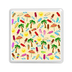 Beach Pattern Memory Card Reader (square)  by Valentinaart