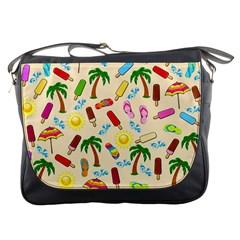 Beach Pattern Messenger Bags by Valentinaart