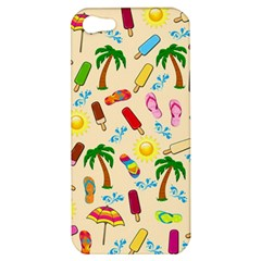 Beach Pattern Apple Iphone 5 Hardshell Case by Valentinaart