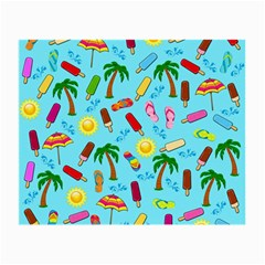Beach Pattern Small Glasses Cloth by Valentinaart
