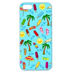 Beach Pattern Apple Seamless Iphone 5 Case (color) by Valentinaart