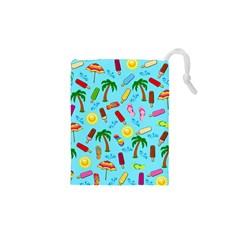 Beach Pattern Drawstring Pouches (xs)  by Valentinaart