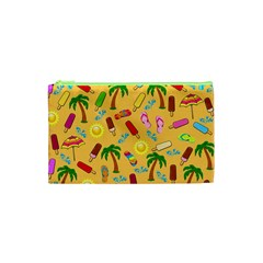Beach Pattern Cosmetic Bag (xs) by Valentinaart