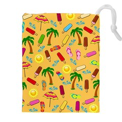 Beach Pattern Drawstring Pouches (xxl) by Valentinaart