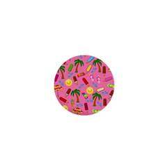 Beach Pattern 1  Mini Magnets by Valentinaart