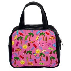 Beach Pattern Classic Handbags (2 Sides) by Valentinaart