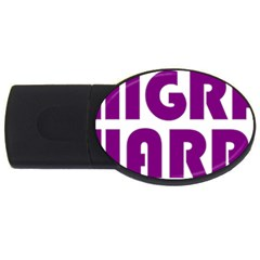 Migraine Warrior With Ribbon Usb Flash Drive Oval (2 Gb) by MigraineursHideout