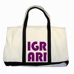 Migraine Warrior With Ribbon Two Tone Tote Bag by MigraineursHideout