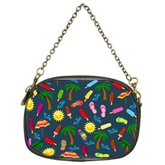 Beach Pattern Chain Purses (two Sides)  by Valentinaart