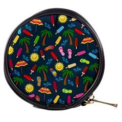 Beach Pattern Mini Makeup Bags by Valentinaart