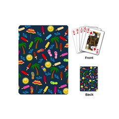 Beach Pattern Playing Cards (mini)  by Valentinaart