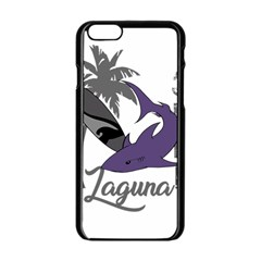 Surf   Laguna Apple Iphone 6/6s Black Enamel Case by Valentinaart
