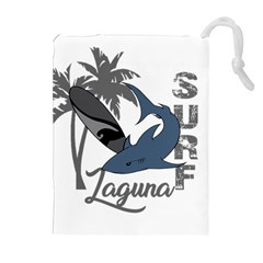Surf   Laguna Drawstring Pouches (extra Large) by Valentinaart