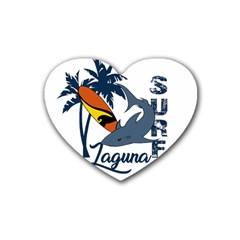 Surf   Laguna Heart Coaster (4 Pack)  by Valentinaart