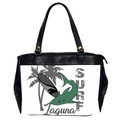 Surf   Laguna Office Handbags (2 Sides)  by Valentinaart