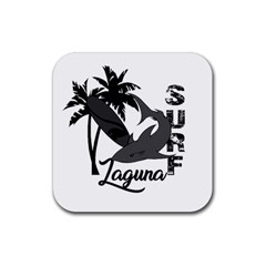 Surf   Laguna Rubber Square Coaster (4 Pack)  by Valentinaart