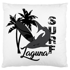 Surf   Laguna Large Flano Cushion Case (one Side) by Valentinaart