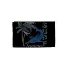 Surf   Laguna Cosmetic Bag (small)  by Valentinaart