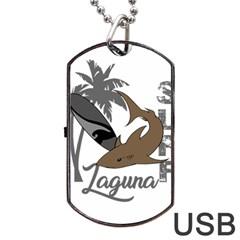 Surf   Laguna Dog Tag Usb Flash (one Side) by Valentinaart