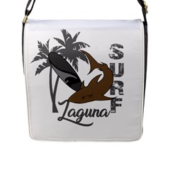 Surf   Laguna Flap Messenger Bag (l)  by Valentinaart