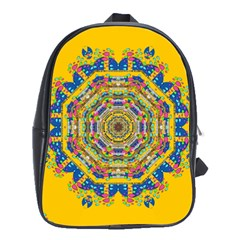 Happy Fantasy Earth Mandala School Bags (xl)  by pepitasart