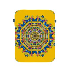 Happy Fantasy Earth Mandala Apple Ipad 2/3/4 Protective Soft Cases by pepitasart