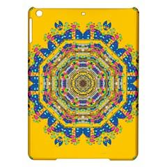 Happy Fantasy Earth Mandala Ipad Air Hardshell Cases by pepitasart