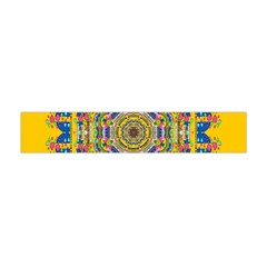 Happy Fantasy Earth Mandala Flano Scarf (mini) by pepitasart