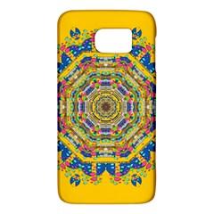 Happy Fantasy Earth Mandala Galaxy S6 by pepitasart
