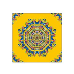 Happy Fantasy Earth Mandala Satin Bandana Scarf by pepitasart
