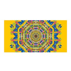 Happy Fantasy Earth Mandala Satin Wrap by pepitasart