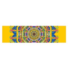 Happy Fantasy Earth Mandala Satin Scarf (oblong) by pepitasart