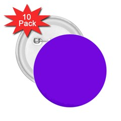 Neon Purple Solid Color  2 25  Buttons (10 Pack)  by SimplyColor