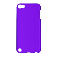 Neon Purple Solid Color  Apple Ipod Touch 5 Hardshell Case by SimplyColor